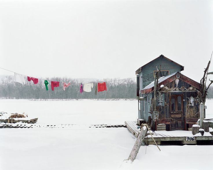 Alec Soth USA. Winona, Minnesota. 2002. Peteru0027s Houseboat. Sleeping By The