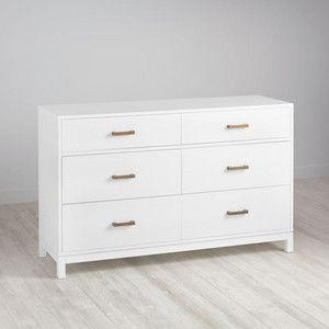 Cargo 6-Drawer Dresser (White)