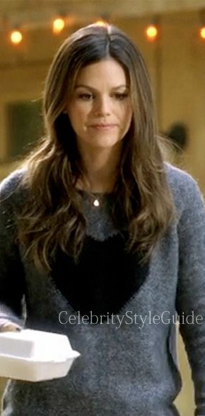 Hart of Dixie Fashion: Rachel Bilson as Zoe Hart wears the Elizabeth and James  Knit Heart Sweater featured on Hart of Dixie episode 'Where I Lead Me'    #CelebrityStyleGuide