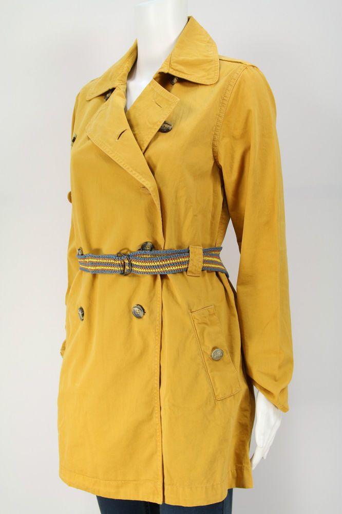 R 95-TH Damen Mantel Women Yellow Trench Coat