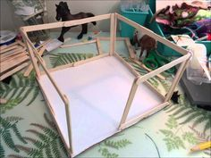 How to Make a Schleich Stall with Sliding Doors