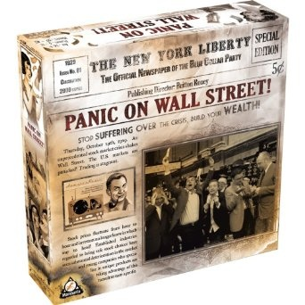 Panic on Wall Street Board Game. A stock exchange game. A lot more fun than I thought. Up to 11 players! Two groups of players that interact but have their own goals on winning.