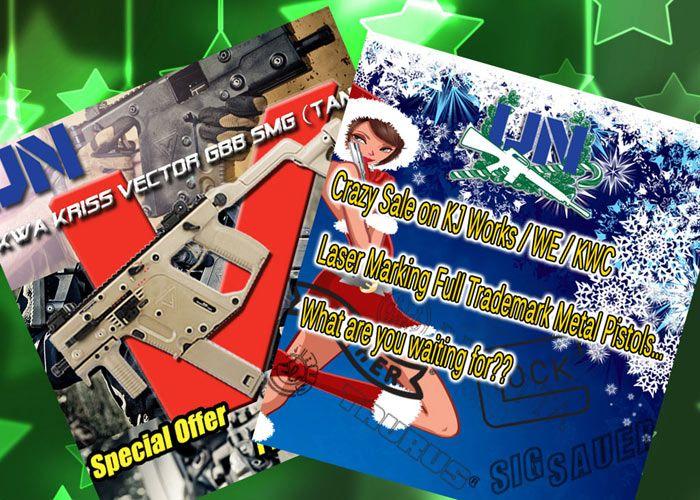 UNC Crazy Sale & KWA KRISS Vector Tan