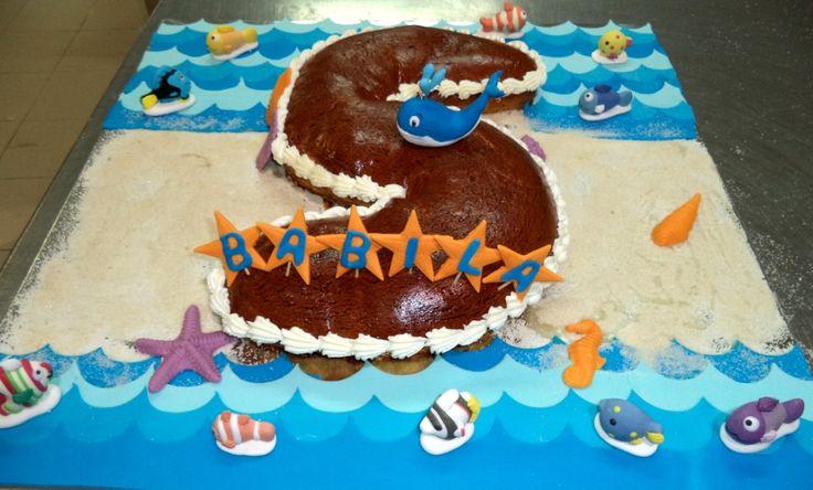 Katty's cakes - Le torte di Katty : Brioche decorato tema balena