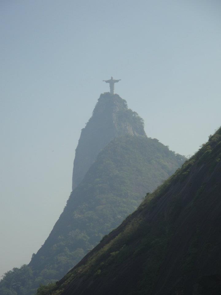 A visão que o morro Santa Marta tem.