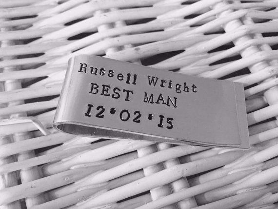 Personalised best man money clip