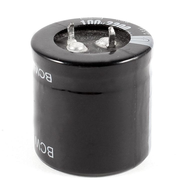 Unique Bargains 100V 2200uF 105 Degree Celsius Radial Lead Aluminum (Silver) Electrolytic Capacitor #a13103100ux0065