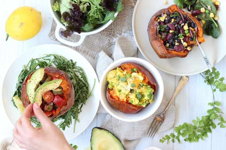The Perfect Baked Sweet Potato - 3 ways - The Fit Foodie