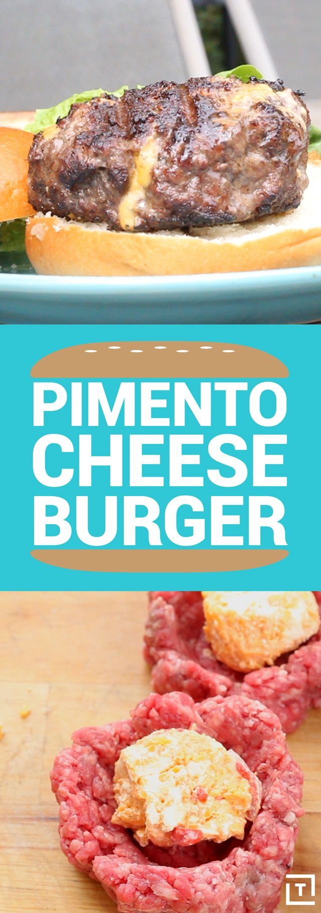 The only thing better than a big, fat, juicy burger is a hefty, all-beef burger stuffed to the brim with Southern pimento cheese. BBQ Tricks shows us how to level up our cheeseburgers by ditching the sliced American cheese for an easy-to-make Southern-style pimento cheese that'll give your burger the extra bite of flavor you didn't know you needed.