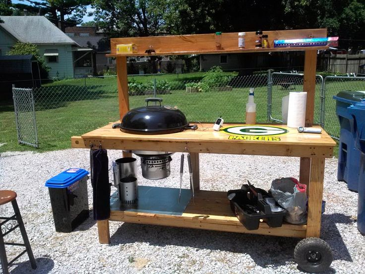 custom weber grill table - Google Search