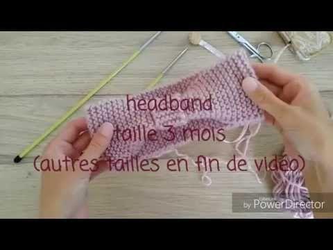 Bandeau facile au tricot - YouTube