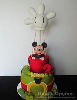 Doces Opções: O Mickey a chegar ao aniversário do Diogo de balão...