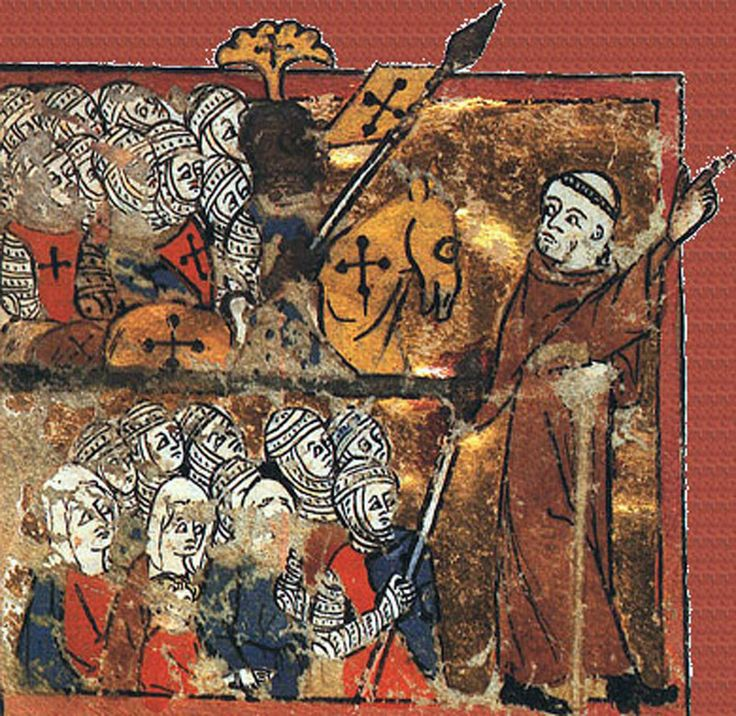 The Medieval period was the time of the Crusades.  The Crusades began in 1095, with the aim of taking back Jerusalem and the Holy Land from Muslim rule. In the end they failed, and they ended in 1291 when the last of the Christian fortresses fell to Muslim forces