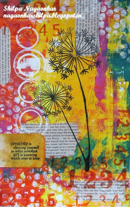 Neon Diary: Art Journal Page inspired by Ellen Vargo