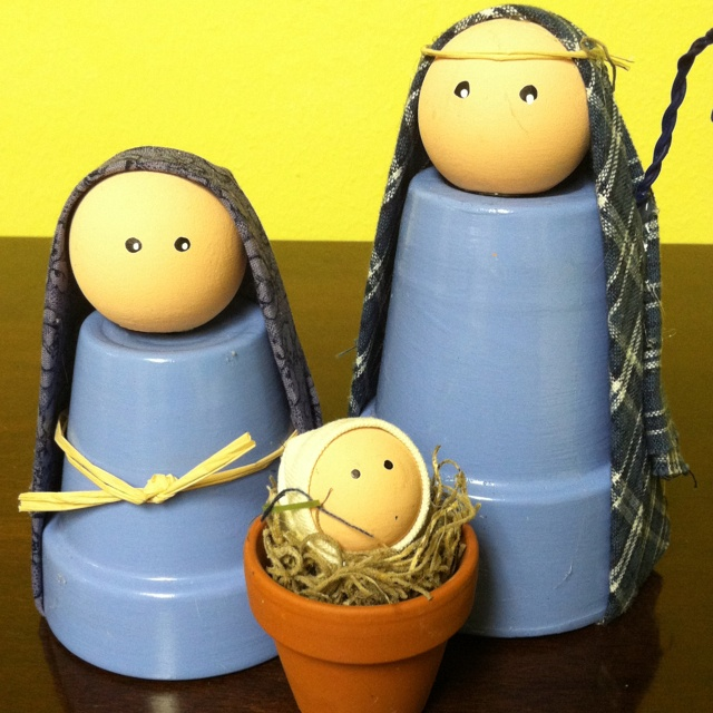 May need to make these myself.  I had a very difficult time finding Nativity sets for sale this year.