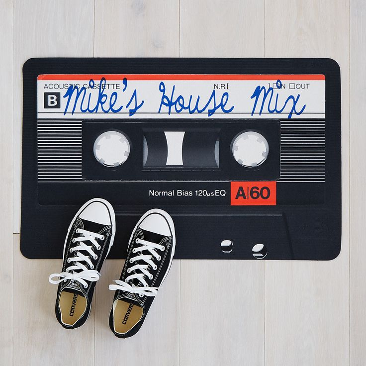 Personalized Mixtape Doormat | welcome mat, personalized, custom, cassette | UncommonGoods