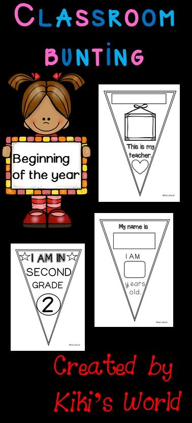Beginning of the year bunting for your classroom.