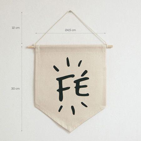 Flâmula de tecido - Fé - Decohouse