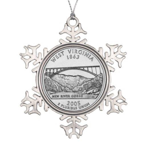 West Virginia State Quarter Ornaments