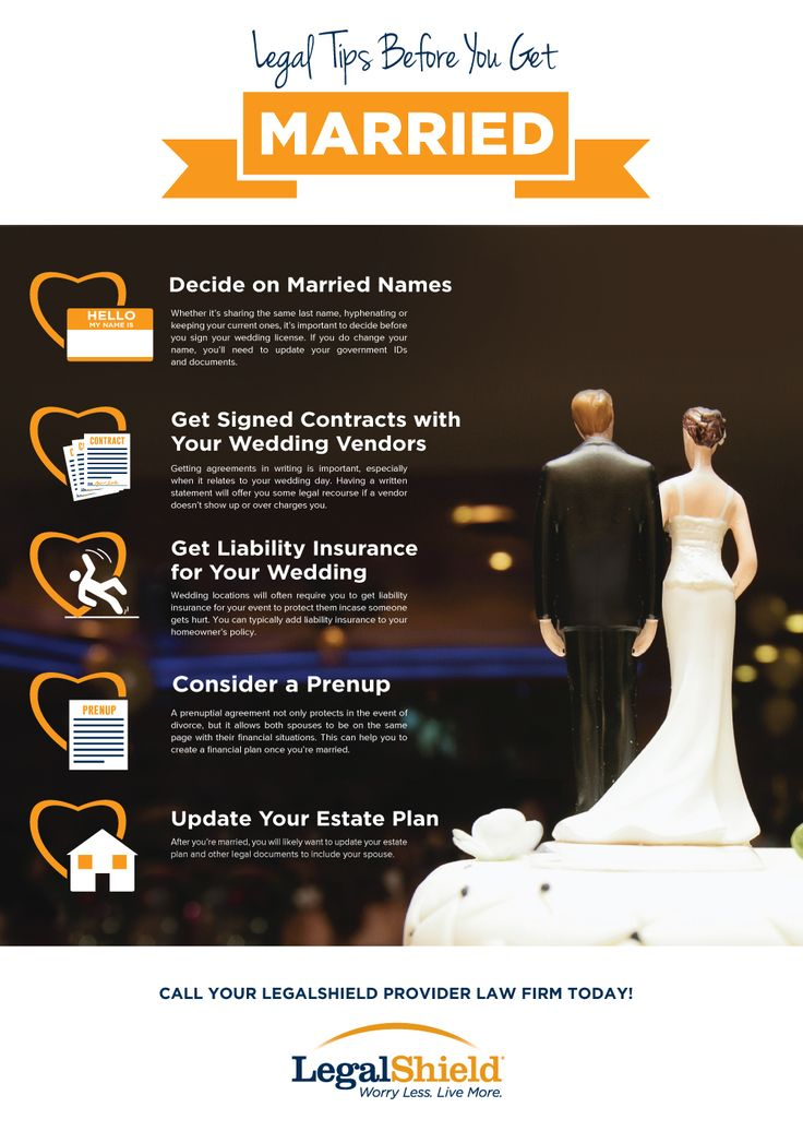 Legal Tips Before You Get Married   LegalShield