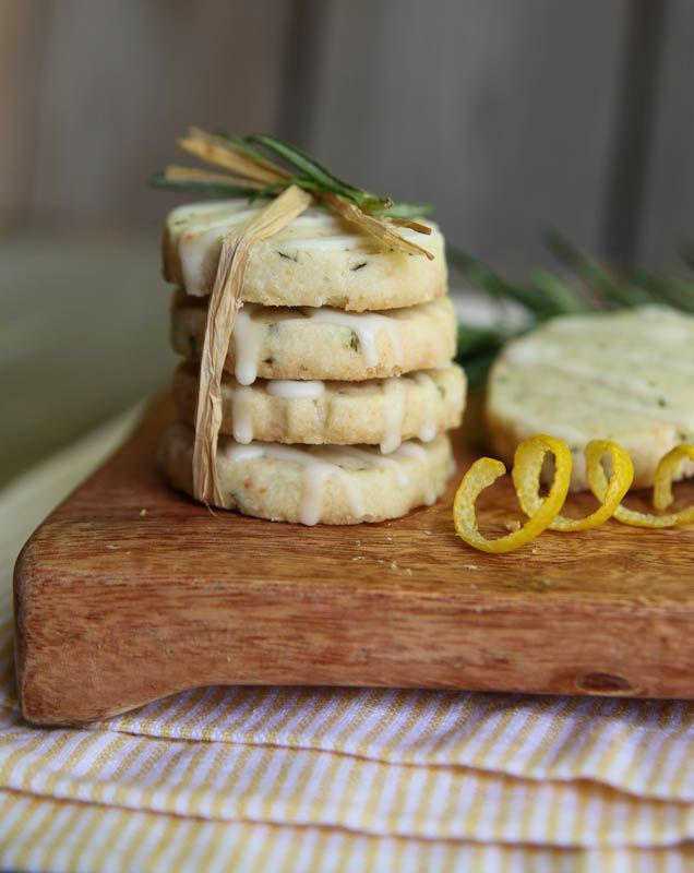Rosemary Shortbread with Lemon Glaze – Rosemary Contest Winner | The Daily Dish