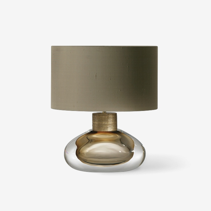 Table Lamp. GLB49 - Cologne Lamp - Clear with Umber. Porta Romana