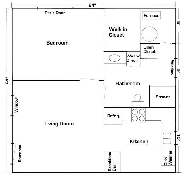 24 x 24 mother in law quarters with laundry room   Your Latest House Addition – A Mother In-Law Suite
