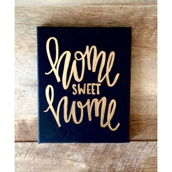 Home Sweet Home 8x10 Mini Canvas Quotes on Canvas Home Sweet Home Sign... ($16) ❤ liked on Polyvore featuring home, home decor, wall art, home & living, home décor, pink, wall décor, word canvas wall art, lettering signs and word wall art