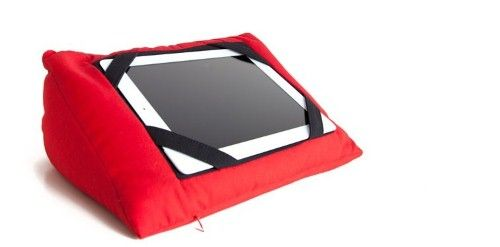 """iPad and Android Tablet Pillow  Rest Normally $59.95  Now  $19.00  Colours: Red Or Black  The pillow is not just a great idea it also has medical benefits. Reported on the  11th July on """"The Project""""  Medical practitioners are now seeing an alarming number of children and teenagers suffering from neck pain and migraines due to neck degree tilt angle when resting iPads on the knee to use them."""