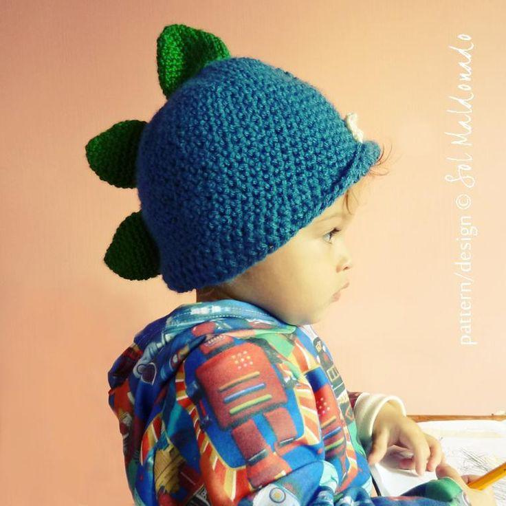 MOnster Hat Crochet 4 sizes pattern