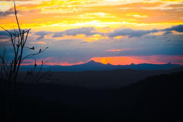 Sunset on Mt Tamborine #Queensland