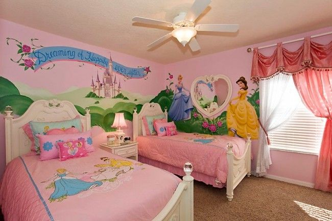 princess theme bedroom ideas | Disney Kids Bedroom Ideas - My Organized Chaos