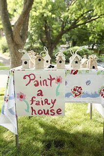 paint a fairy house...