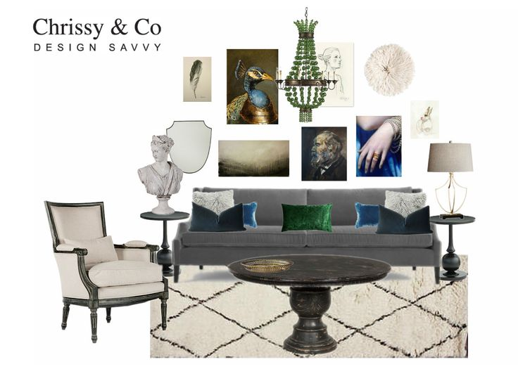 Eclectic Living Room: Gallery wall