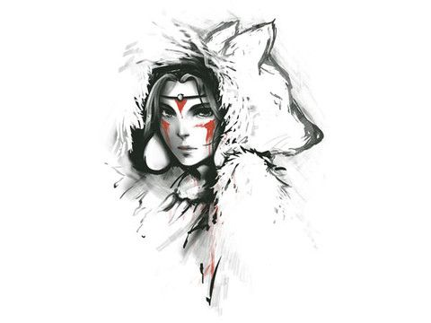 Princess Mononoke- if I was ever to get a big animr piece, this might be it