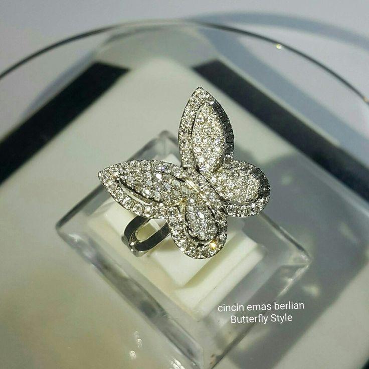 New Arrival🗼. Cincin Emas Berlian Butterfly Style💍.   🏪Toko Perhiasan Emas Berlian-Ammad 📲+6282113309088/5C50359F Cp.Antrika👩.  https://m.facebook.com/home.php #investasi#diomond#gold#beauty#fashion#elegant#musthave#tokoperhiasanemasberlian