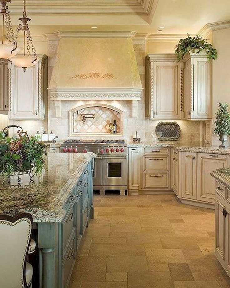 Incredible Kitchen Remodeling Ideas: 75 Incredible French Country Kitchen Design Ideas