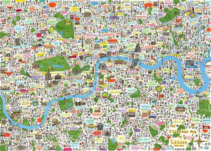 this is new illustrated map of london second edition by house of cally featuring even more places of cultural interest