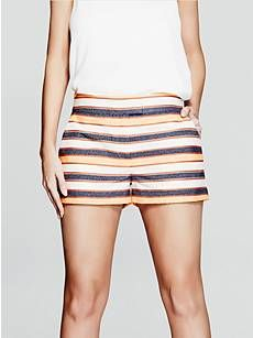 Erin Striped Short | GUESS by Marciano