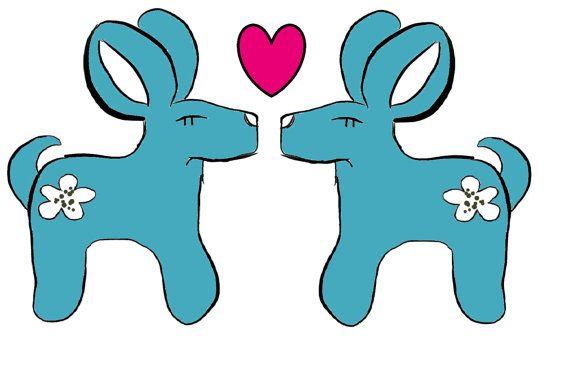 Postcard MayaDesign Bambi&Heart by MayaDesing on Etsy