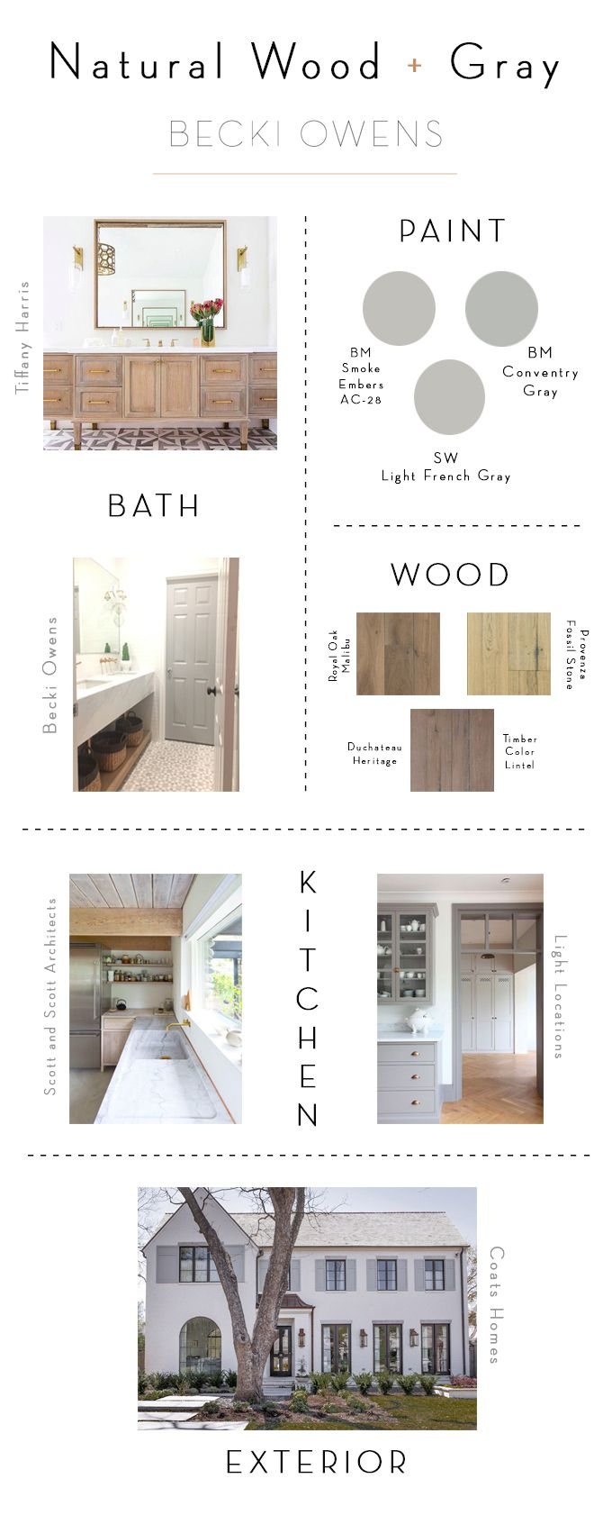 BECKI OWENS- Color Combinations: Natural Woods + Cool Grays