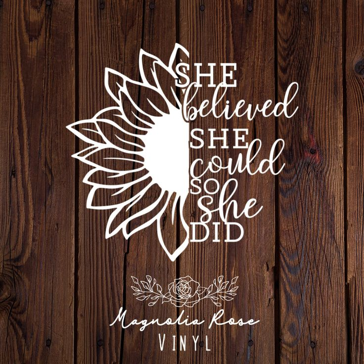 Sunflower Decal Inspirational Decal Sunflower Decal For