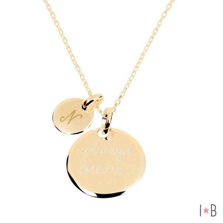 isabelle b, bijoux personnalisés - Collier personnalisé duo de médailles plaqué…