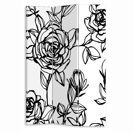 White And Black Rose Room Canvas Room Divider Screen 30944. 42 best Screens   Dividers images on Pinterest   Screens  Room