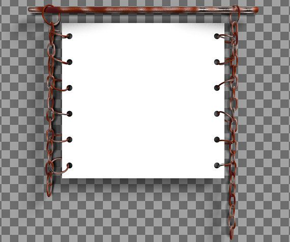 Rusty metal chain mockup frame with alpha channel and shadows ...