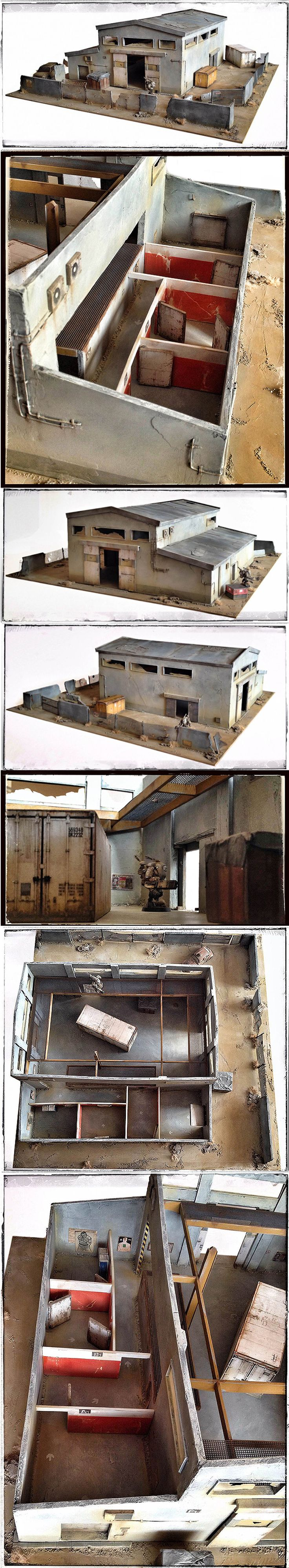 unique SHOOTING HALL WIP details + painted / dedicate to 28mm Infinity, Neuroshima, WH40K ... STILL FOR SALE