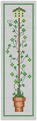 Cross-stitch March Birdhouse... no color chart available, just use pattern chart as your color guide.. or choose your own colors...