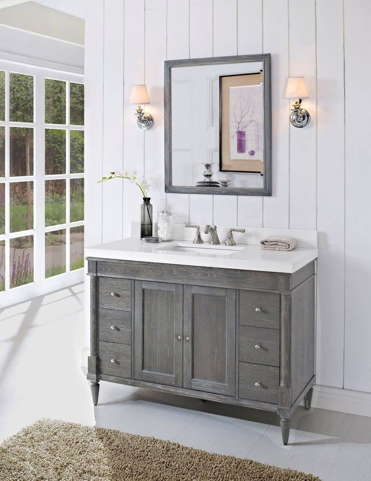 "fairmont designs 142-v48 rustic chic 48"" bathroom vanity 