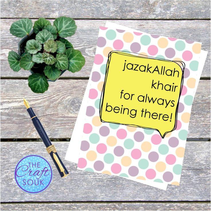 JazakAllah *Thank You* Greeting Card