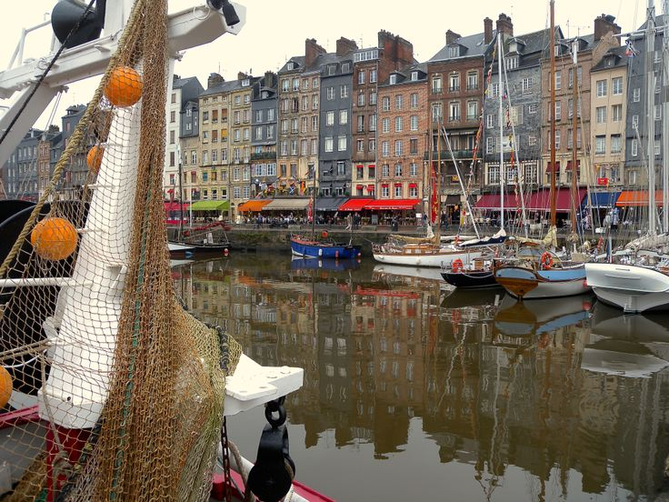 France, Honfleur... a magical place for lovers. A historic harbour in the way to Normandy.